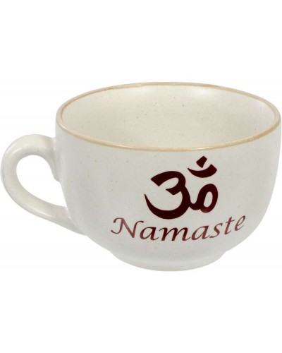 Namaste Om Cappuccino Cup at Tree of Life Journeys, Reconnect with Yourself - Meditation, Law of Attraction, Spiritual Products