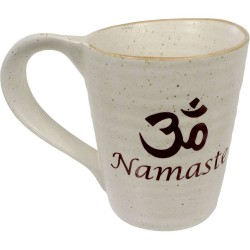 Namaste Om 10 oz Ceramic Mug Tree of Life Journeys Reconnect with Yourself - Meditation, Law of Attraction, Spiritual Products