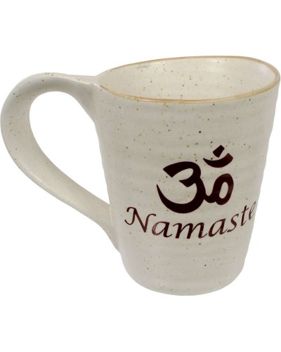 Namaste Om 10 oz Ceramic Mug at Tree of Life Journeys, Reconnect with Yourself - Meditation, Law of Attraction, Spiritual Products