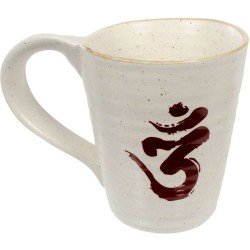 Om Symbol 10 oz Ceramic Mug Tree of Life Journeys Reconnect with Yourself - Meditation, Law of Attraction, Spiritual Products