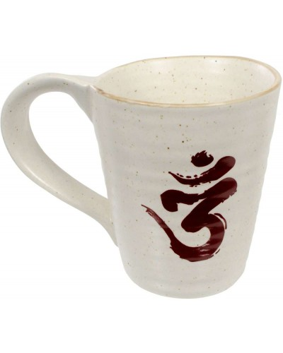 Om Symbol 10 oz Ceramic Mug at Tree of Life Journeys, Reconnect with Yourself - Meditation, Law of Attraction, Spiritual Products