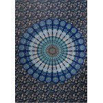 Peacock Mandala Tapestry at Tree of Life Journeys, Reconnect with Yourself - Meditation, Law of Attraction, Spiritual Products