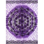 Flower of Life Purple Tapestry at Tree of Life Journeys, Reconnect with Yourself - Meditation, Law of Attraction, Spiritual Products