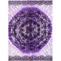 Flower of Life Purple Tapestry