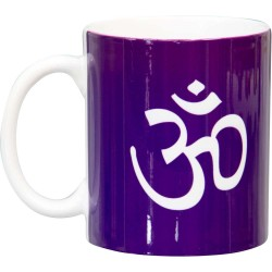 Om Symbol Purple Ceramic Mug