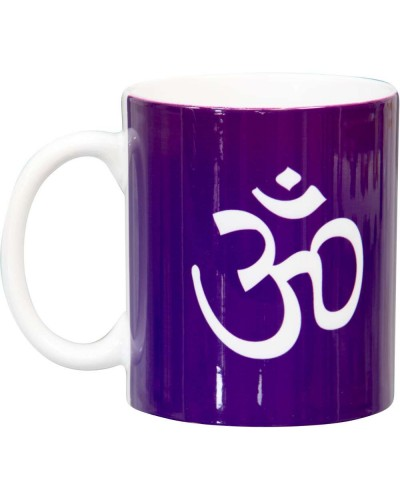 Om Symbol Purple Ceramic Mug at Tree of Life Journeys, Reconnect with Yourself - Meditation, Law of Attraction, Spiritual Products