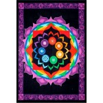 Rainbow Chakra Tapestry at Tree of Life Journeys, Reconnect with Yourself - Meditation, Law of Attraction, Spiritual Products