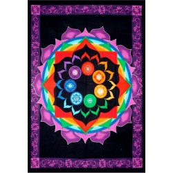 Rainbow Chakra Tapestry Tree of Life Journeys Reconnect with Yourself - Meditation, Law of Attraction, Spiritual Products