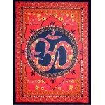 Red Om Lotus Tapestry at Tree of Life Journeys, Reconnect with Yourself - Meditation, Law of Attraction, Spiritual Products
