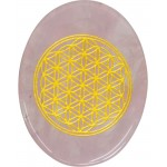 Rose Quartz Flower of Life Worry Stone at Tree of Life Journeys, Reconnect with Yourself - Meditation, Law of Attraction, Spiritual Products
