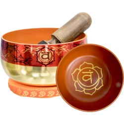 Sacral Chakra Small Singing Bowl Set Tree of Life Journeys Reconnect with Yourself - Meditation, Law of Attraction, Spiritual Products