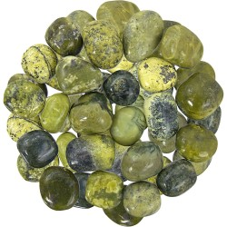 Serpentine Tumbled Stones - 1 Pound Bag Tree of Life Journeys Reconnect with Yourself - Meditation, Law of Attraction, Spiritual Products