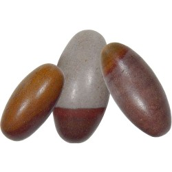 Shiva Lingam Stone - Set of 6 1.5 Inch Sacred Stones Tree of Life Journeys Reconnect with Yourself - Meditation, Law of Attraction, Spiritual Products