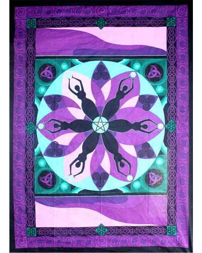 Moon Goddess Purple Tapestry at Tree of Life Journeys, Reconnect with Yourself - Meditation, Law of Attraction, Spiritual Products
