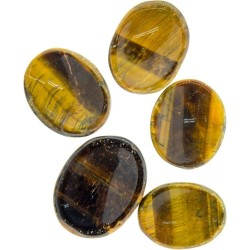 Tigers Eye Worry Stone Tree of Life Journeys Reconnect with Yourself - Meditation, Law of Attraction, Spiritual Products