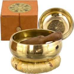 Tibetan Wheel of Life Singing Bowl Gift Set Tree of Life Journeys Reconnect with Yourself - Meditation, Law of Attraction, Spiritual Products