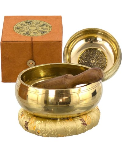 Tibetan Wheel of Life Singing Bowl Gift Set at Tree of Life Journeys, Reconnect with Yourself - Meditation, Law of Attraction, Spiritual Products