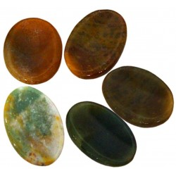 Jasper Worry Stone Tree of Life Journeys Reconnect with Yourself - Meditation, Law of Attraction, Spiritual Products