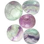 Fluorite Worry Stone at Tree of Life Journeys, Reconnect with Yourself - Meditation, Law of Attraction, Spiritual Products