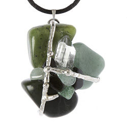Good Luck Gemstone Magical Amulet Tree of Life Journeys Reconnect with Yourself - Meditation, Law of Attraction, Spiritual Products