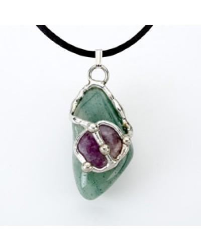 Air Gemdrop Silver Crystal Pendant