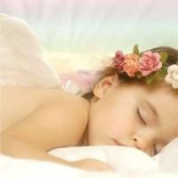 Sleeping Angel Greeting Card with CD