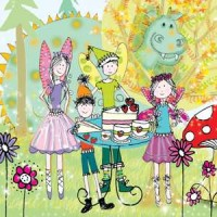 Birthday Party Eeny Card with Story Time CD