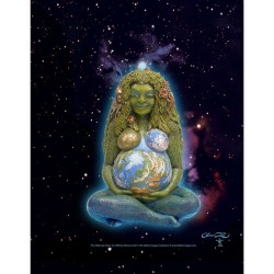 Gaia Mother Earth Full Color Poster