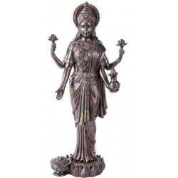 Lakshmi Hindu Goddess of Luck and Wealth Bronze Resin Statue Tree of Life Journeys Reconnect with Yourself - Meditation, Law of Attraction, Spiritual Products