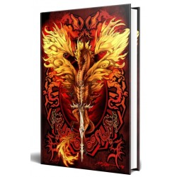 Dragon Flame Blade Embossed Journal Tree of Life Journeys Reconnect with Yourself - Meditation, Law of Attraction, Spiritual Products