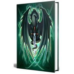 Dragon Skull Blade Embossed Journal Tree of Life Journeys Reconnect with Yourself - Meditation, Law of Attraction, Spiritual Products