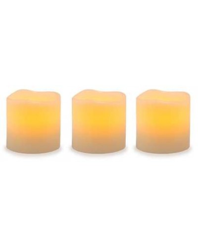 Unscented LED Pillar Candles with Timer - Set of 3 at Tree of Life Journeys, Reconnect with Yourself - Meditation, Law of Attraction, Spiritual Products