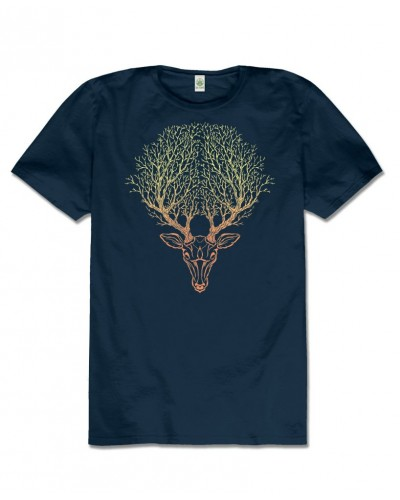 Deer Spirit Hemp T-Shirt at Tree of Life Journeys, Reconnect with Yourself - Meditation, Law of Attraction, Spiritual Products