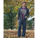 Hemp Yoga Pants for Men Midnight Blue at Tree of Life Journeys, Reconnect with Yourself - Meditation, Law of Attraction, Spiritual Products