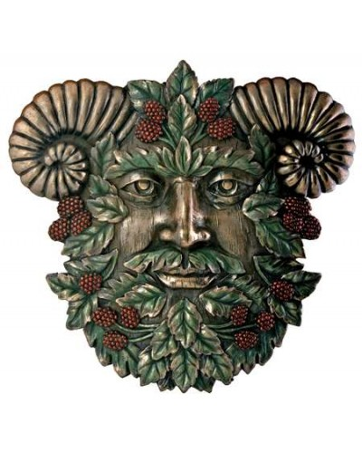 Greenman Summer Wall Plaque at Tree of Life Journeys, Reconnect with Yourself - Meditation, Law of Attraction, Spiritual Products