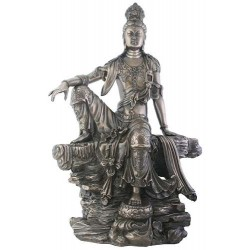 Kuan-Yin Water and Moon Goddess Statue Tree of Life Journeys Reconnect with Yourself - Meditation, Law of Attraction, Spiritual Products