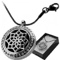 Crystal Lotus Aromatherapy Locket Necklace
