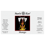 Shango Orisha Deity Oil at Tree of Life Journeys, Reconnect with Yourself - Meditation, Law of Attraction, Spiritual Products