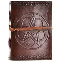 Pentagram Leather Pocket Size Journal Tree of Life Journeys Reconnect with Yourself - Meditation, Law of Attraction, Spiritual Products