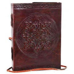 Celtic Knotwork Leather Blank 7 Inches Journal with Cord