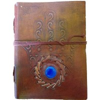 Hamsa Evil Eye Blank Book With Cord - 7 Inches