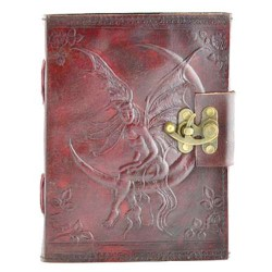 Fairy Moon 8 Inch Leather Journal with Latch Tree of Life Journeys Reconnect with Yourself - Meditation, Law of Attraction, Spiritual Products