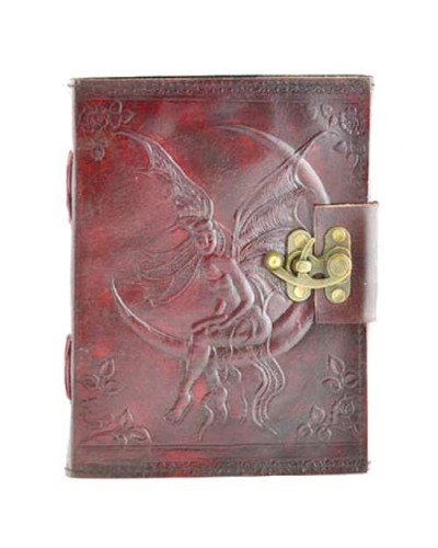 Fairy Moon 8 Inch Leather Journal with Latch at Tree of Life Journeys, Reconnect with Yourself - Meditation, Law of Attraction, Spiritual Products