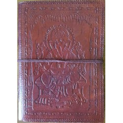 Ganesh Embossed Leather 7 Inch Journal Tree of Life Journeys Reconnect with Yourself - Meditation, Law of Attraction, Spiritual Products