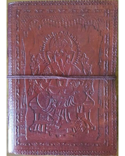 Ganesh Embossed Leather 7 Inch Journal at Tree of Life Journeys, Reconnect with Yourself - Meditation, Law of Attraction, Spiritual Products