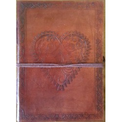 Heart Leather Journal Tree of Life Journeys Reconnect with Yourself - Meditation, Law of Attraction, Spiritual Products