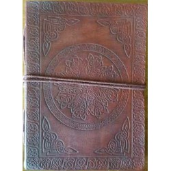 Celtic Mandala Leather Journal Tree of Life Journeys Reconnect with Yourself - Meditation, Law of Attraction, Spiritual Products
