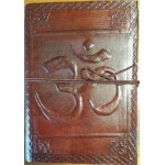 Om Embossed Leather 7 Inch Journal at Tree of Life Journeys, Reconnect with Yourself - Meditation, Law of Attraction, Spiritual Products