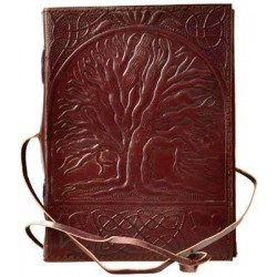Sacred Oak Tree of Life Leather Journal with Cord Tree of Life Journeys Reconnect with Yourself - Meditation, Law of Attraction, Spiritual Products