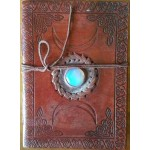 Triple Moon Gemstone Leather 7 Inch Journal at Tree of Life Journeys, Reconnect with Yourself - Meditation, Law of Attraction, Spiritual Products